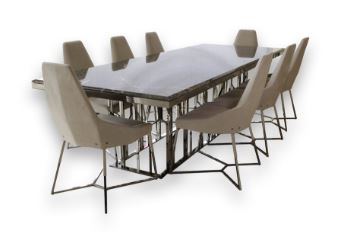 Ginza Marble Top Dining Set