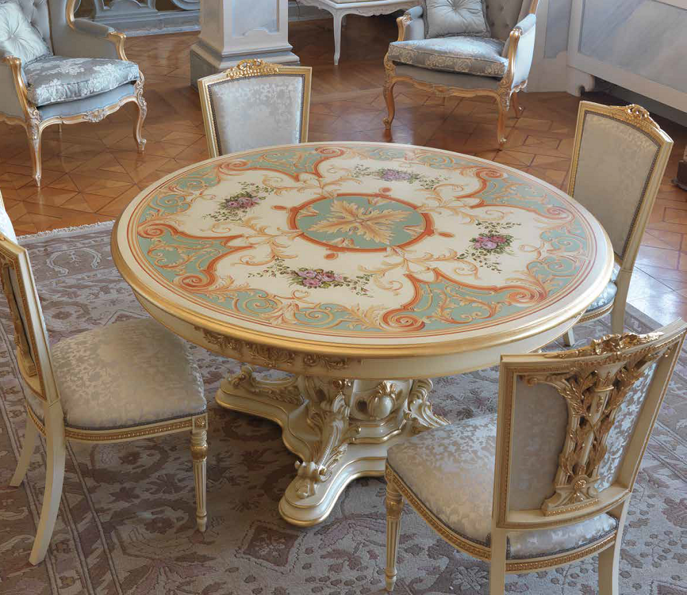 Dining Tables Hand Painted Round Table