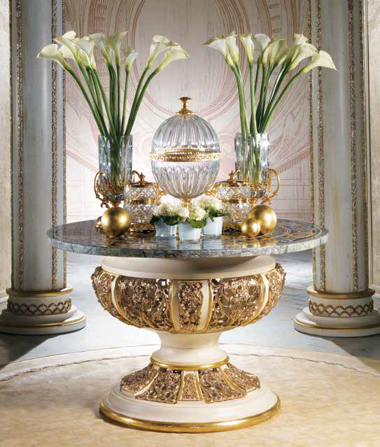 Entry Foyer Round Table With, Round Foyer Table Marble Top