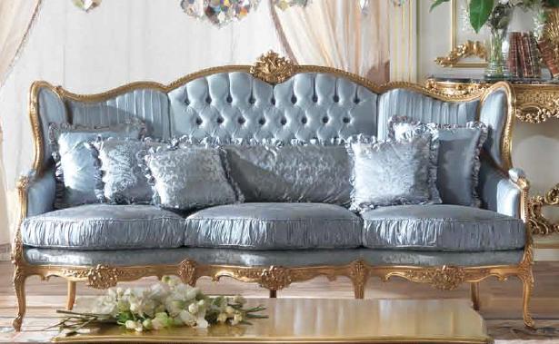 Sofas Loveseats Classic Powder Blue Sofa