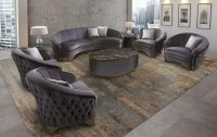 DECO COLLECTION CURVED LIVING ROOM SET