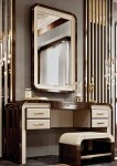 DECO II COLLECTION VANITY BENCH WITH MIRROR AND BENCH